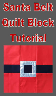 Santa Belt Quilt Block Tutorial