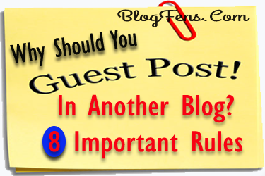 Guest Post In Another Blog?