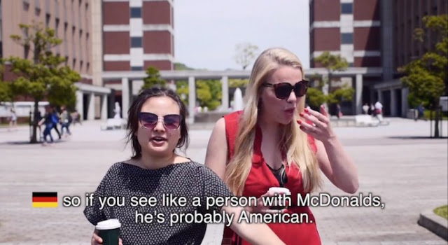 Two German students. If you see a person at McDonalds he is probably american. Video from sw yoon filmed at American Public University. The Smell of Freedom and other stories about merica. marchmatron.com