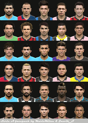 PES 2015 SERIE A facepack by MarioMilan