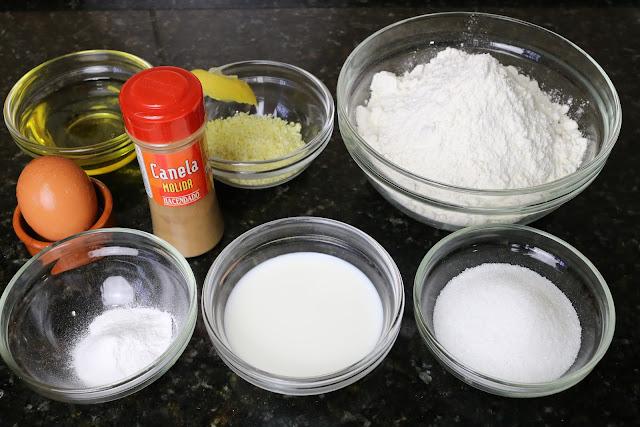 Ingredientes para rosquitos fritos caseros