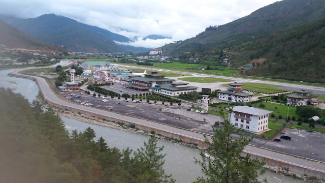 Bhutan beautiful view covered by mountains