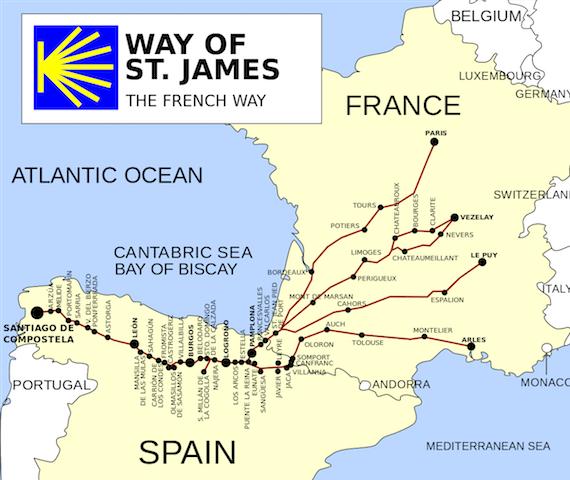 Caminho Francês até Santiago de Compostela