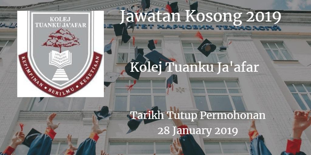 Jawatan Kosong KTJ 28 January 2019