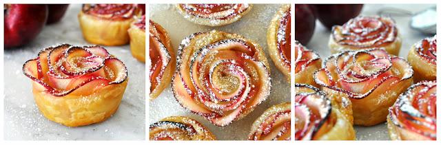 Яблучні троянди можна притрусити корицею та цукровою пудрою