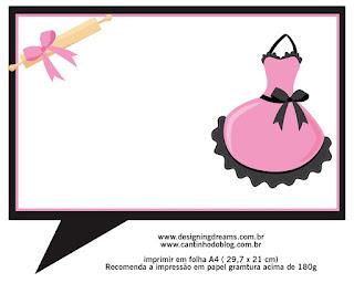 Etiquetas para Imprimir Gratis de Cocinando Retro en Rosa.