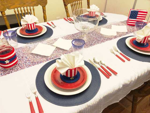 4th of July Patriotic Breakfast Tablescape