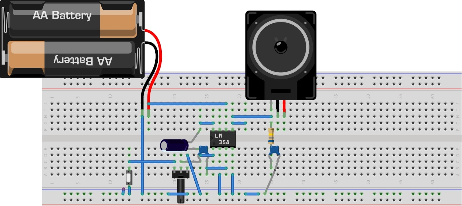 Sam Technology Professionals Electronics Circuitspcb Layouts And Tda2822 Amplifier Circuit Electronic Circuits Diagram A On Breadboard In 3d Export As An Image To Show Your Friends Have Fun Here Is Example Of Audio