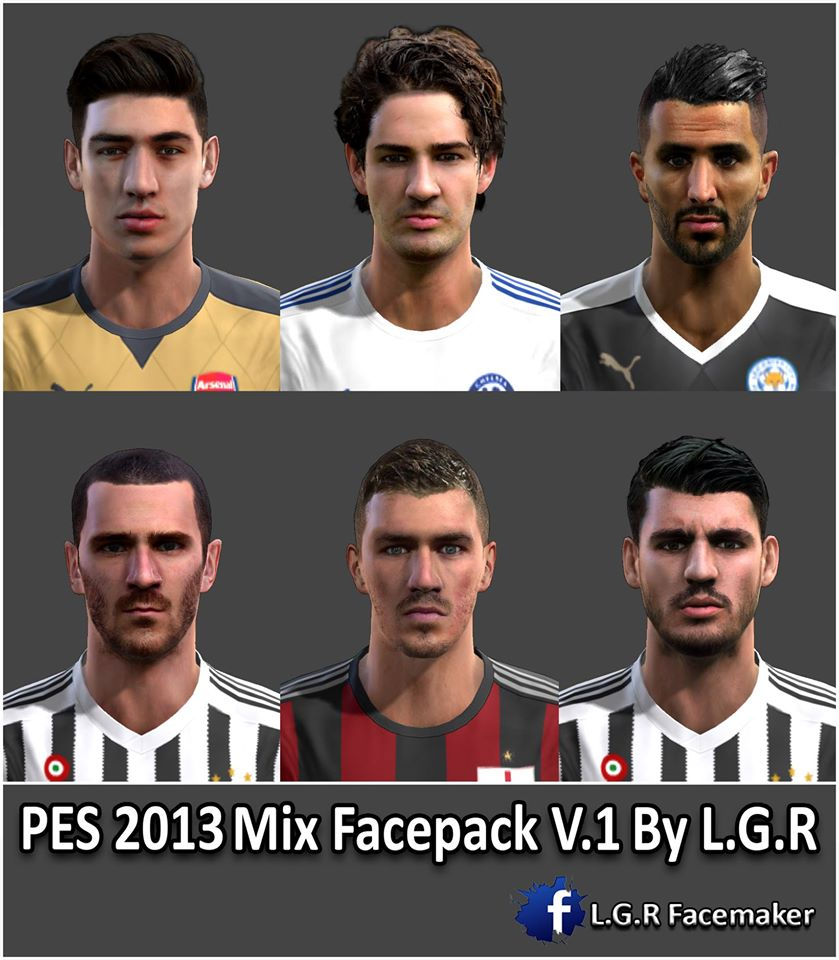 Ultigamerz Pes 2010 Pes 2011 Face: PES-MODIF: PES 2013 Mix Facepack V.1 By L.G.R