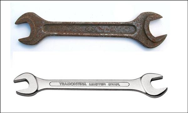 Hoje ensinaremos como remover a ferrugem de ferramentas como  chave de  boca, chave grifo, chave inglesa, chave de fenda, martelo, pregos, serrote,  ou seja, ... b8e3a7f824