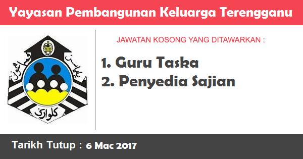Jawatan Kosong di Yayasan Pembangunan Keluarga Terengganu (YPKT)
