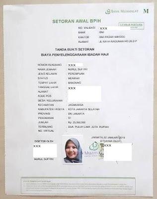 cara dan syarat daftar haji di kantor kementerian agama republik indonesia kemenag nurul sufitri mom blogger writer tanda bukti setoran awal biaya penyelenggaraan ibadah haji