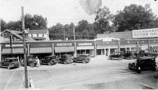 Living in Black Mountain, NC: Then and now downtown Black