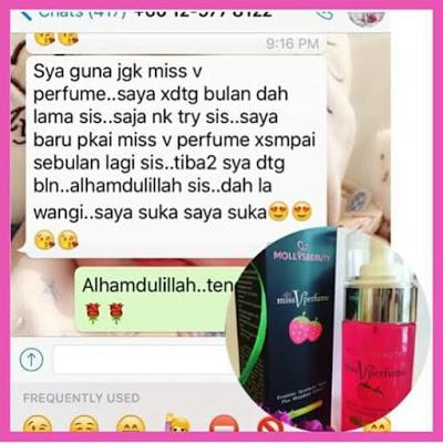 testimoni miss v perfume, mollys beauty, kebersihan peribadi wanita