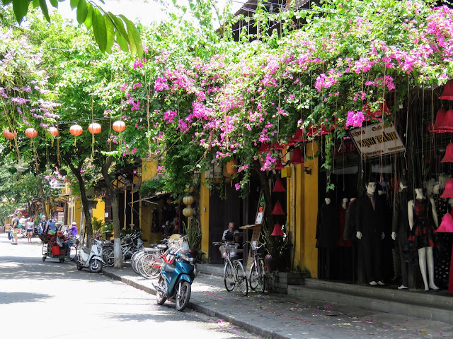 Streets of Hoi An Ancient Town (UNESCO world heritage site) in Vietnam