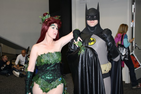 Poison Ivy cosplay with Batman