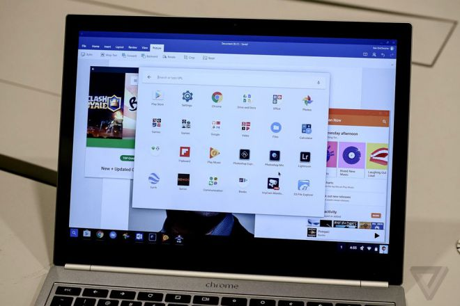 App Android in azione su Chromebook HTNovo