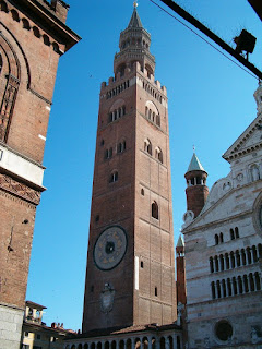 Il Torrazzo in Cremona is the tallest bell tower in the whole of Italy