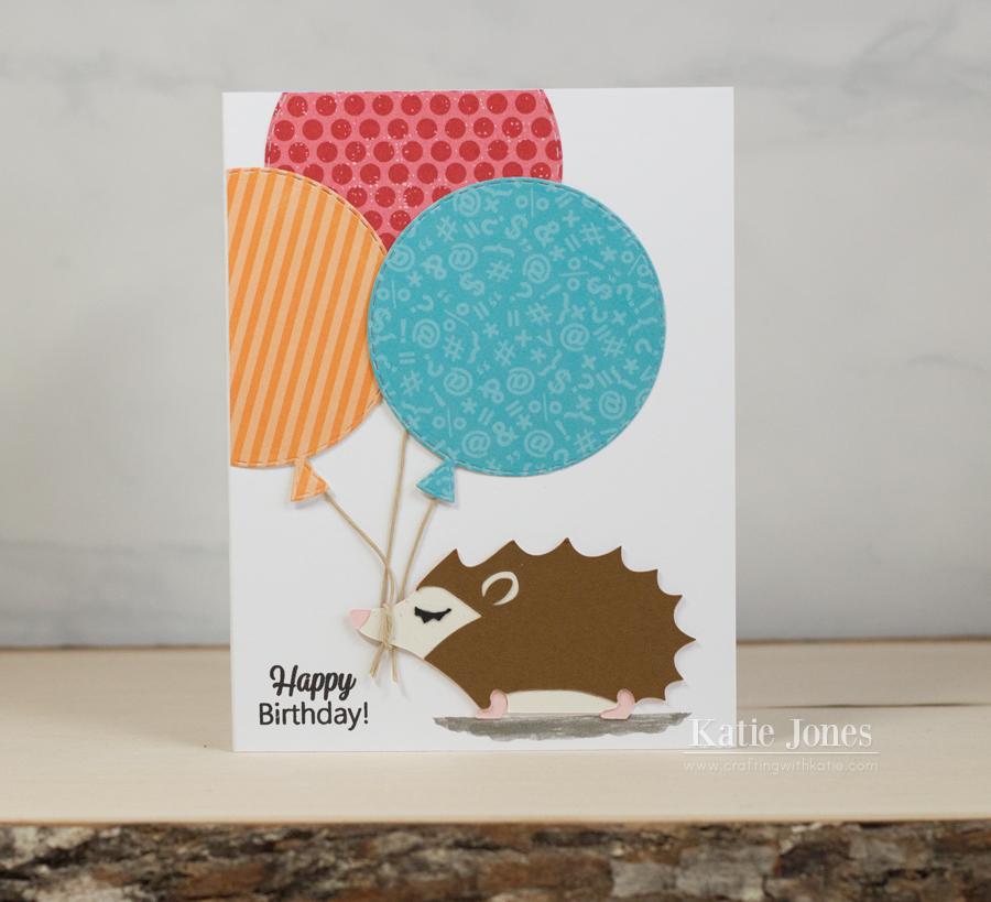 Crafting With Katie Hedgehog Birthday Card