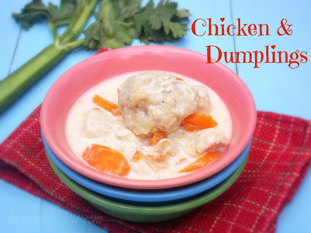 Homemade Chicken & Dumplings (from scratch) - lacocinadeleslie.com