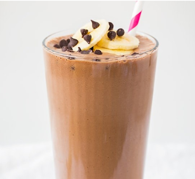Chocolate Peanut Butter Banana Shake #drink #healthydrink