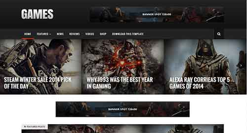Sora Games Blogger Template
