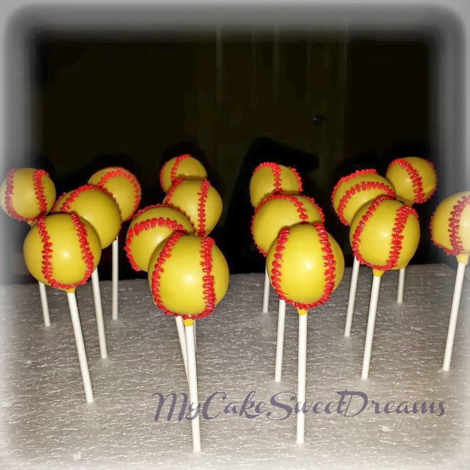 How To Make Softball Cake Pops