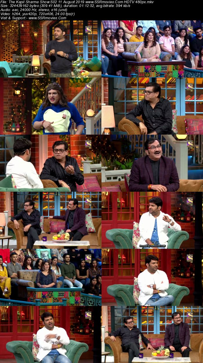 The Kapil Sharma Show S02 11 August 2019 Full Show Download HDTV HDRip 480p