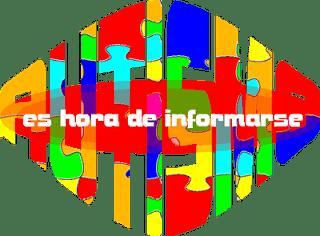 Cartel con la palabra autismo escrita en varios colores, y por delante, en blanco, la frase Es hora de informarse