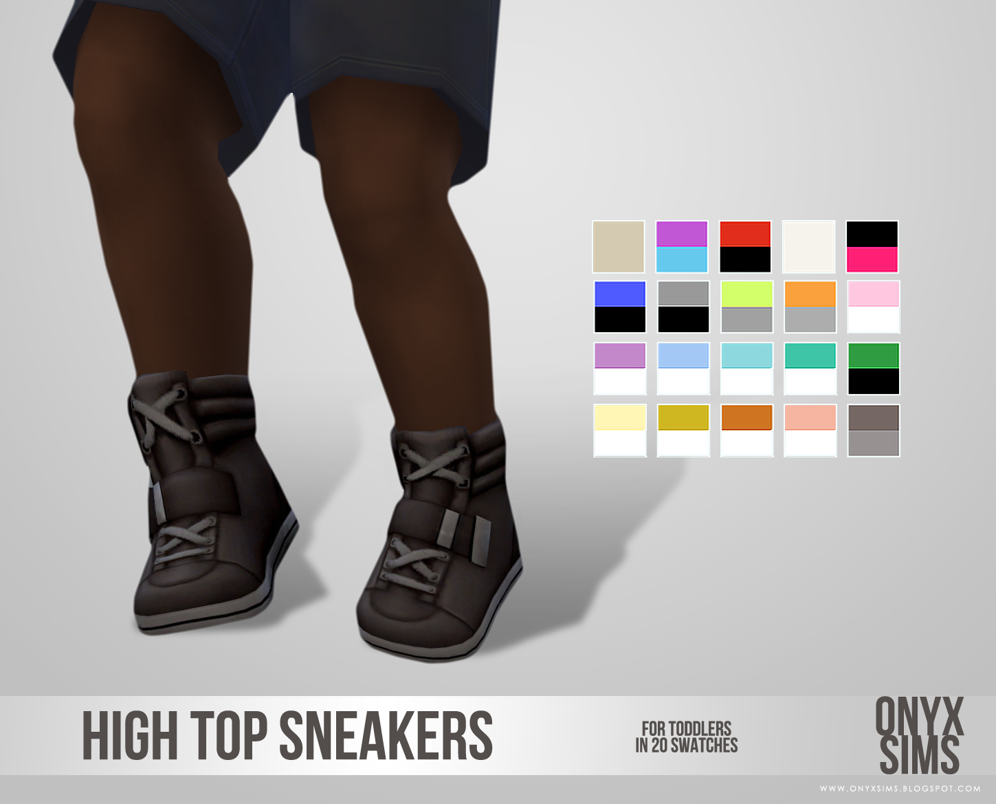 High Top Sneakers for Toddlers - Onyx Sims