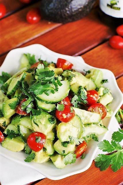 Cucumber, Tomato & Avocado Salad Image