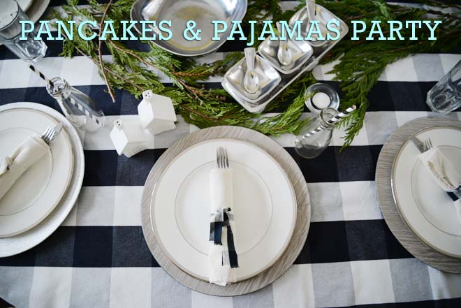 winter birthday party, december birthday party ideas, winter party idea for adults, pancakes and pajamas party