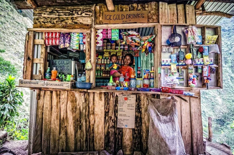 Tapiy-ya Falls Sari-Sari Store Vendor & Son Batad Rice Terraces Ifugao Cordillera Administrative Region Philippines