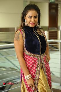 Telugu Actress Sri Reddy Mallidi Stills in White Beautiful Dress at Marriage Needs Bridal Fashion Week 2017 Logo Launch  0077.JPG