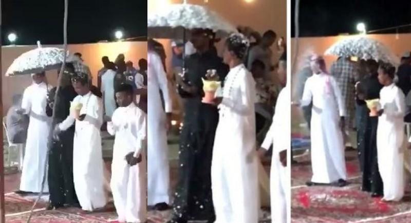 Screenshot video pernikahan gay di Arab Saudi