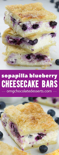 Sopapilla Blueberry Cheesecake Bars