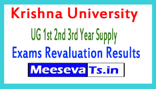 Krishna University UG 1st 2nd 3rd Year Supply Exam Revaluation Results