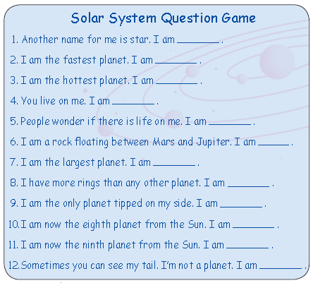 solar system based questions -#main