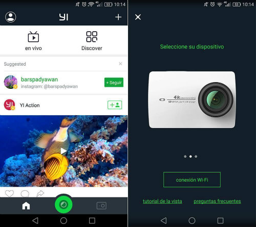 Apps for sports cameras Yi Action