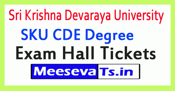 Sri Krishna Devaraya University SKU CDE Degree Exam Hall Tickets