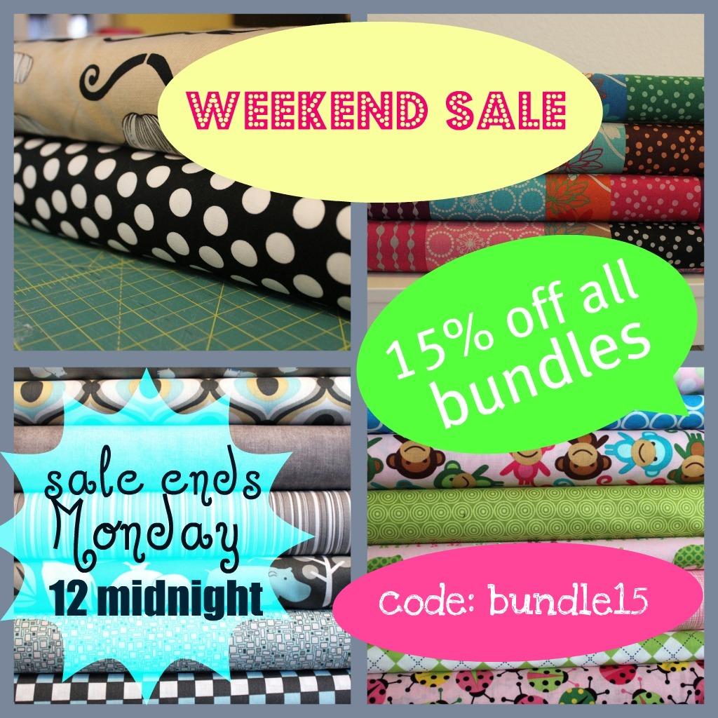 Ti9 Weekend Sale: POPPYSEED FABRICS: Weekend Sale, 15% Off All Pre-made Bundles