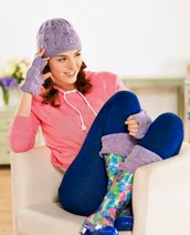 http://www.letsknit.co.uk/free-knitting-patterns/lace-hat-boot-cuffs-and-wristwarmers