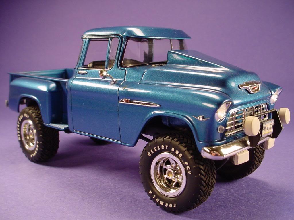 1955 chevy truck 4x4 model kit chevy trucks. Black Bedroom Furniture Sets. Home Design Ideas