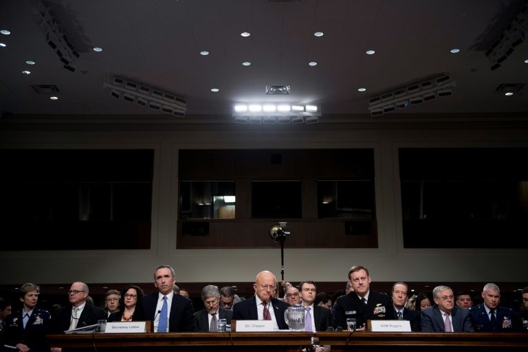 Three US spy chiefs testify before the Senate Armed Services Committee on Capitol Hill in Washington, DC, January 5, 2017
