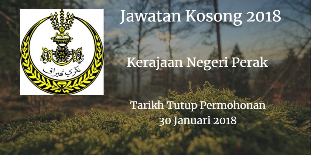 Jawatan Kosong SUK Perak 30 Januari 2018