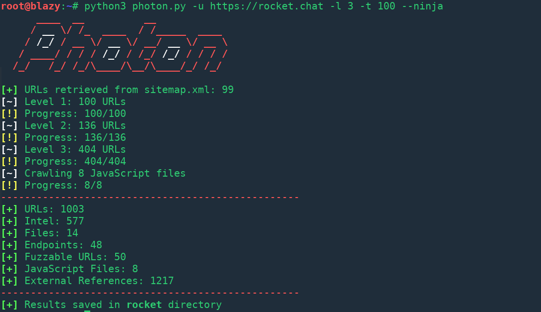 photon incredibly fast crawler which extracts urls emails files