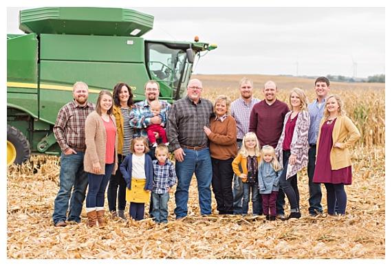 John Deere tractor cornfield family farm photography