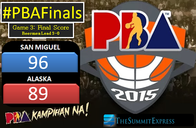 San Miguel Beermen threatens Alaska Aces for 4-0 victory