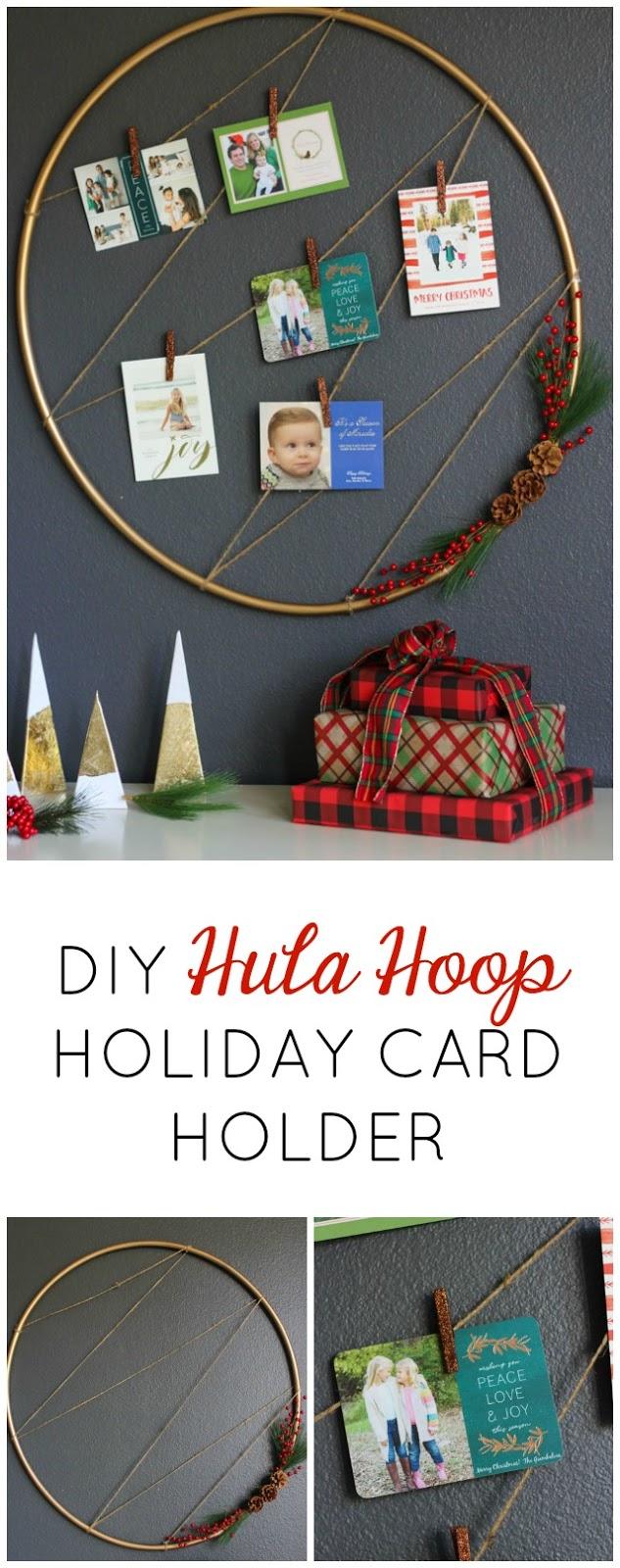 Love this simple Christmas card display idea!