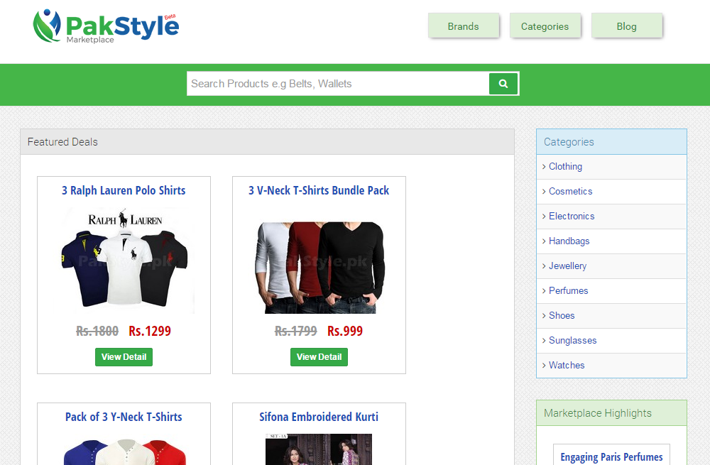 Online clothes shopping websites in pakistan